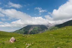 Clouds in mountains. Beautiful clouds in the mountains Stock Photography