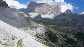 Clouds in the mountains. Dolomites. Italy. Tre Cime stock video footage