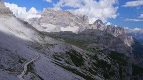 Clouds in the mountains. Dolomites. Italy. Tre Cime stock video