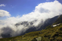 Clouds in the mountains landcape Stock Image