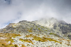 Clouds in the mountains - Tatras, Slovakia Royalty Free Stock Images