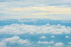 Clouds mountains. Royalty Free Stock Photo