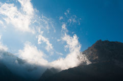 Clouds and mountains view Royalty Free Stock Photo