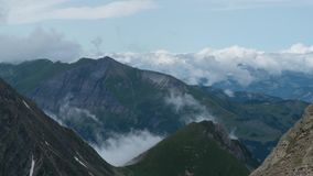 Clouds move over the European Alps. Time lapse of Cloud movement over the European Alps. 4K stock video