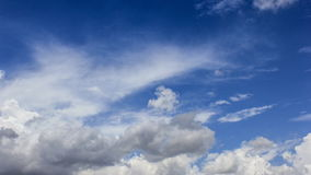 Clouds movement on the blue sky stock footage