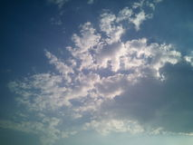 Clouds. Moves changing of climates in sky Royalty Free Stock Images