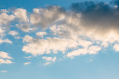 Clouds moving across the sky Stock Image
