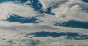 Clouds moving across sky stock footage