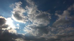 Clouds Moving In the Blue Clean Sky Time-Lapse stock video footage