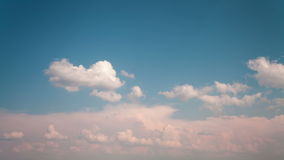 Clouds moving on blue sky stock video footage