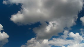 Clouds Moving in the Blue Sky stock video
