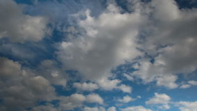 Clouds moving in the blue sky stock footage
