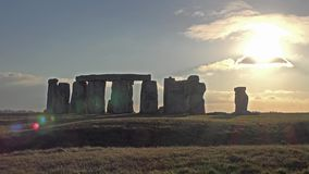 Clouds moving over Stonehenge, Wiltshire England stock video