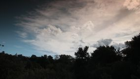 Clouds moving in the sky filmed in timelapse. Aude in occitanie, France stock footage