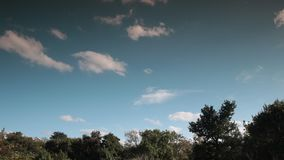 Clouds moving in the sky filmed in timelapse. Aude in occitanie, France stock video
