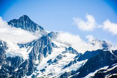 The clouds with the Mt. Shuksan,Washington Stock Photos