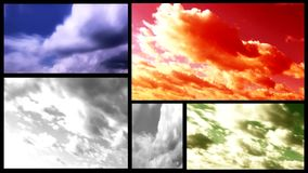 Clouds multi screen Stock Photo