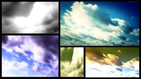 Clouds multi screen Stock Photography