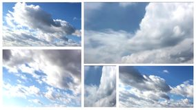 Clouds multi screen Stock Image