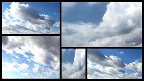 Clouds multi screen Royalty Free Stock Image