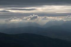 clouds mysticen Royaltyfri Foto