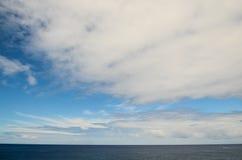 Clouds near The Atlantic Ocean stock photo
