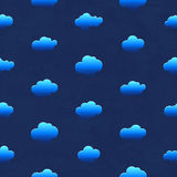 Clouds in the night sky. Seamless pattern Royalty Free Stock Images