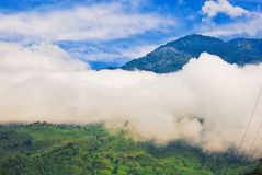 Clouds obscuring mountains Stock Image