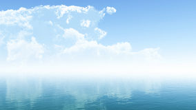 Clouds and Ocean Royalty Free Stock Image