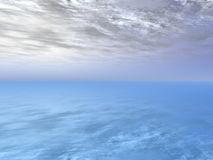 Clouds and ocean Royalty Free Stock Photography