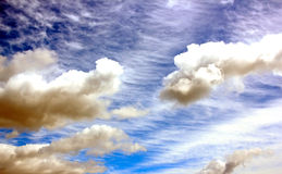 Clouds ominous. Tormented and threatening sky, shades of blue stock photography