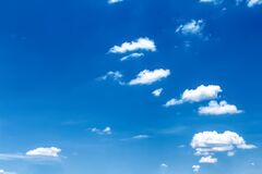 Free Clouds On Blue Sky With Light Wind Nature Summer Background And Copy Space Stock Photo - 215120630