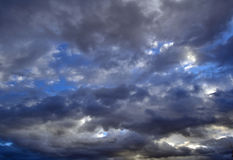 Clouds. During one winter evening Royalty Free Stock Photography