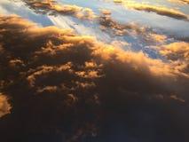 Clouds 042. Orange clouds overcast  sky Stock Photos