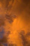clouds orangen Royaltyfria Bilder