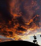 clouds orangen Royaltyfri Fotografi
