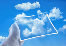Clouds out of a Picture Royalty Free Stock Images