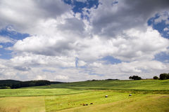 Clouds over agriculture field Stock Image