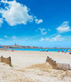 Clouds over Alghero cityscape in the summertime Stock Photography