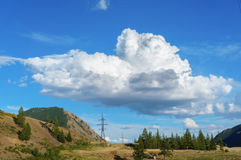 Clouds over Altai steppe Stock Image