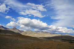 Clouds over Altai steppe Royalty Free Stock Photos