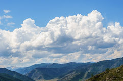 Clouds over Altai steppe Royalty Free Stock Images
