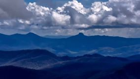 Clouds over the Appalachian Mountains. Clouds moving over the Linville Gorge Wilderness area in North Carolina stock video footage