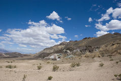 Clouds over Artist Drive in Death Valley, California Royalty Free Stock Photos