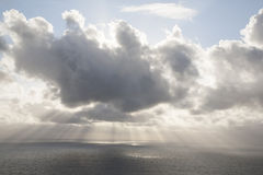 Clouds over the Atlantic Ocean Royalty Free Stock Image
