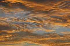 Clouds over the Atlantic Ocean Royalty Free Stock Photography