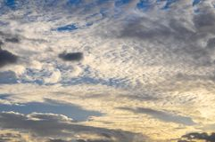 Clouds over the Atlantic Ocean Stock Photography