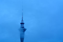 Clouds over Auckland Sky Tower - New Zealand Royalty Free Stock Image