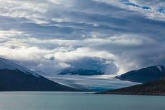 Clouds over the Austdalsbreen glacier Jostedalsbreen National Park Sogn og Fjordane Norway Scandinavia stock photo