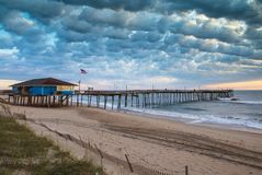 Free Clouds Over Avon Pier Outer Banks NC Stock Photos - 134310553